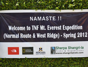 expedition to Mt. Everest by The North Face, National Geographic and Montana State University (USA) teams